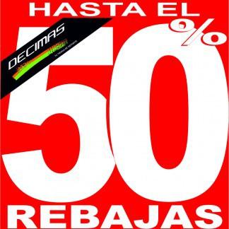 DECIMAS: REBAJAS HASTA EL 50%