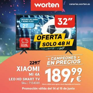 WORTEN: OFERTA TV XIAOMI MI ¡¡SOLO 48 HORAS!!
