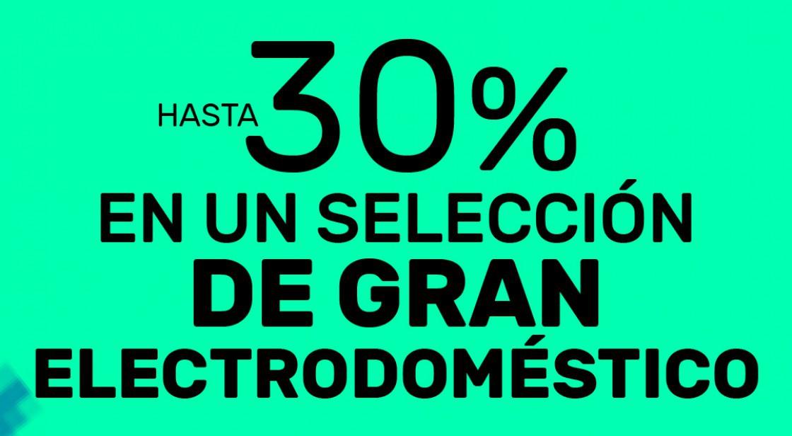 HASTA UN 30% EN UNA GRAN SELECCIÓN DE ELECTRODOMÉSTICOS EN WORTEN