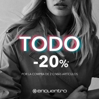TODO AL 20% EN LA TIENDA ENCUENTRO