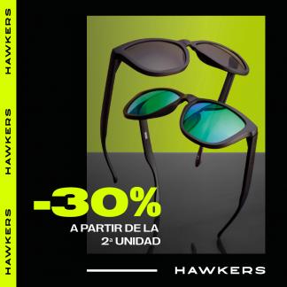 30% a partir de la segunda unidad en Hawkers