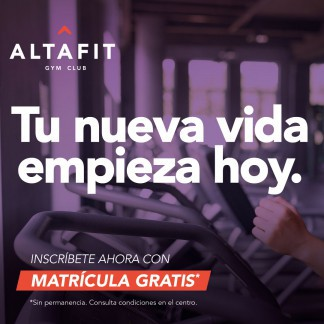 ALTAFIT: ¡MATRÍCULA GRATIS!
