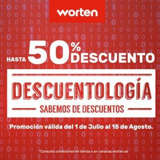 WORTEN: ¡HASTA UN 50% DE DESCUENTO!