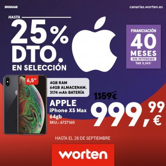 CONSIGUE EN WORTEN HASTA UN 25% EN APPLE
