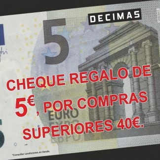 CHEQUE REGALO DE 5€ EN DÉCIMAS